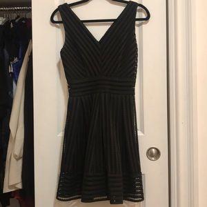780d570b76e Aqua Dresses - AQUA mesh neoprene stripe dress Bloomingdales S